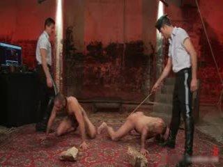 Alessio en leo in geil outlandish homo bondage s&m fetisj film 7 door boundpride