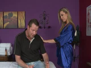 masseuse, masseur, cum in mouth