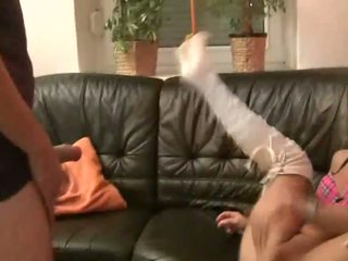 Milf teases cock and gets her pussy fucked