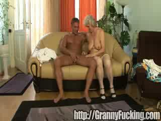 brunette, pussyfucking, grandma