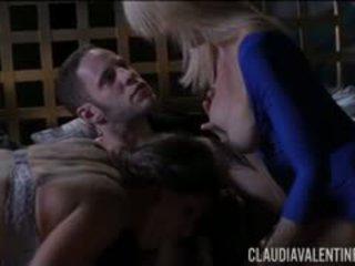 Claudia valentine und erica lauren 3 weg mit wolf hudson