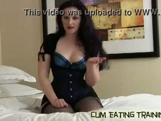 Slurp up all of your cum like a good boy CEI