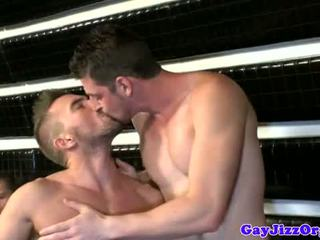 Amateur muscled hunks great bar orgy