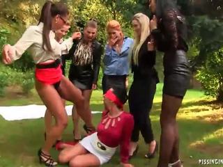 Outdoor Lesbian Pissing Orgy