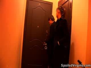 Masha deflowered door two pevers guys.