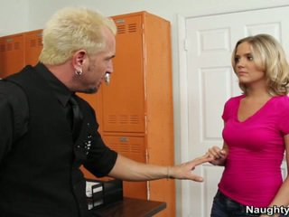 Miniature Breast Blonde Fucks Guitar Instructor To Be In His Music Mov