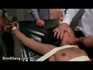Pretty butt tanned dark haired chick Skin diamond group fucked in bdsm