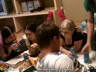 Thai And Blonde Lesbian Shag Inside Do...