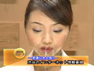 Japonesa newsreader bukkake