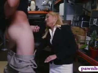Hot Blonde Milf Gets Her Pussy Banged Hard In Storage Room