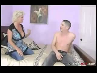 Hot mother fucks sons friend