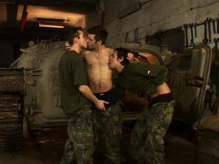 Hardcore homo sekss par the karaspēks bāze