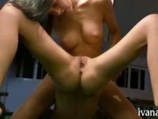 Tiny Tits Playgirl Massages Her Vagina