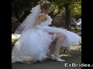 Echt brides upskirts!