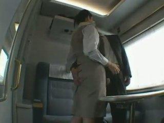 اليابانية قطار attendant الملبس أنثى العاري ذكر ضربة وظيفة dandy 140