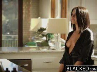 Blacked брюнетка adriana chechik takes trio на bbcs