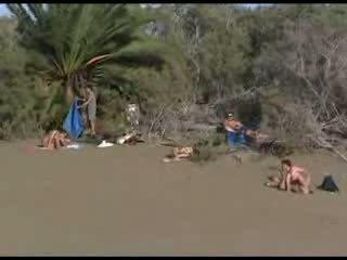 playa, sexo, público