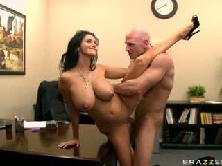 nowy duże cycki wielki, gorące biuro sprawdzać, biuro seks