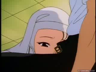 Slutty hentai nun bends over and takes it from behind