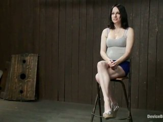 Cocoa haired scarlet faux has spanked en tortured in freaky gebonden mov