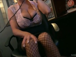 Busty Kelly Madison Has Hot Phone Sex In Her Office