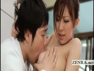 Big Titty japanese sultress Harumi Asano has Melons suckled