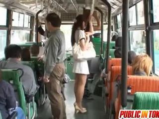 Yuu asakura ด้วย a ควย บน the รถบัส