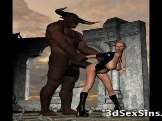 Scary creatures बकवास ३डी लड़कियों!
