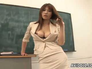 Karštas krūtinga ai kurosawa nešvankus mokytojas su didžiulis