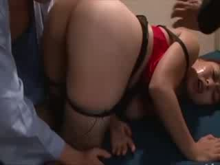 Asian big titted chick has fun with multiple slongs