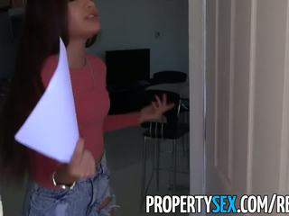 PropertySex - Sexy tenant gets fucked hard by her landlord
