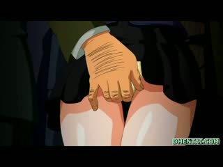 Japans tekenfilm studente heet geneukt door getto tekenfilm baas