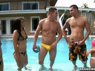 Brandi And Her Friends Partying At The Pool