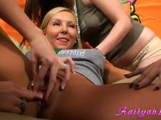 Aaliyah Love Got Finger Bang In All Girls Party