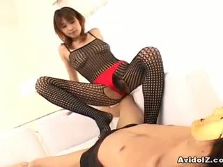 Asyano av star ai kurosawa ay shaged through tights