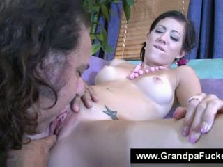 Ron jeremy licking the pierced clit of a young lady