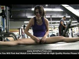 nóng nhất thể thao hơn, nóng thể dục xem, xem solo của cô gái kiểm tra