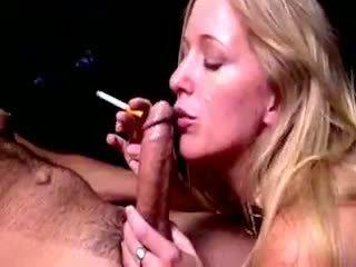 Blond Hoe Dia Zerva Smokes And Gives Fellatio