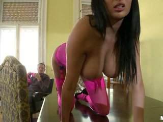 Busty Anissa Kate In Pink Receives Beefy Snake Inside The Ass
