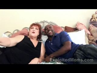 Grandma Receives Bawdy Cleft Pounded By Large Black Cock