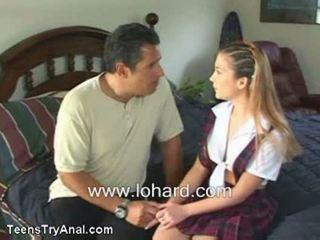 Tonåren försök anala sabrina