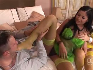 Madison Parker and Angelica Heart in wild foot fetish threesome