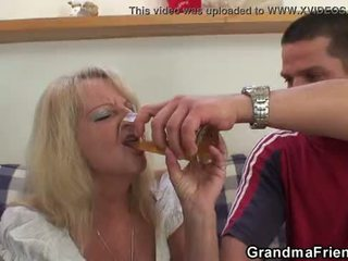Partying guys cui blonda grandmother