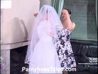 jeune mariée, vidéos, sexe lesbien