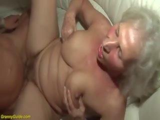Harig oma in haar eerste porno video-, hd porno 91