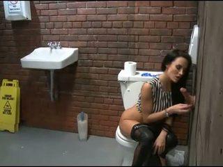 babes, toaletă, gaura glorie