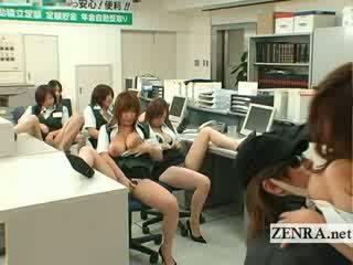 Japanese post office burglar busty masturbation party