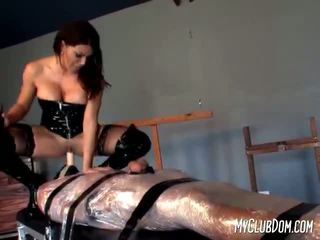 Severe mistress uses some electricity