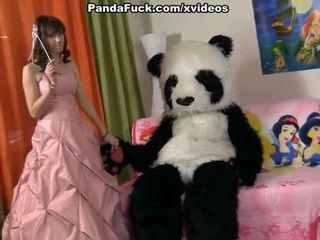 Jauns fairy revived rotaļlieta panda un zīst