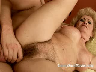 60 plus Granny gets fucked in her hairy pussy